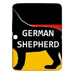 German Shepherd Name Silhouette On Flag Black Samsung Galaxy Tab 3 (10.1 ) P5200 Hardshell Case