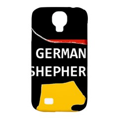 German Shepherd Name Silhouette On Flag Black Samsung Galaxy S4 Classic Hardshell Case (PC+Silicone)