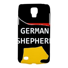 German Shepherd Name Silhouette On Flag Black Galaxy S4 Active