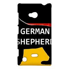 German Shepherd Name Silhouette On Flag Black Nokia Lumia 720