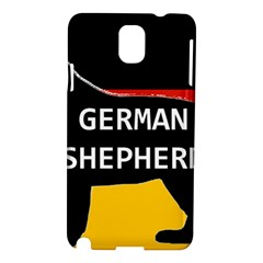 German Shepherd Name Silhouette On Flag Black Samsung Galaxy Note 3 N9005 Hardshell Case