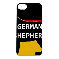 German Shepherd Name Silhouette On Flag Black Apple iPhone 5S/ SE Hardshell Case