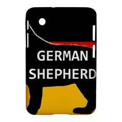 German Shepherd Name Silhouette On Flag Black Samsung Galaxy Tab 2 (7 ) P3100 Hardshell Case