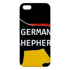 German Shepherd Name Silhouette On Flag Black iPhone 5S/ SE Premium Hardshell Case