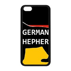 German Shepherd Name Silhouette On Flag Black Apple iPhone 5C Seamless Case (Black)