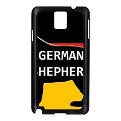 German Shepherd Name Silhouette On Flag Black Samsung Galaxy Note 3 N9005 Case (Black)