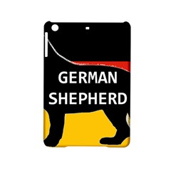 German Shepherd Name Silhouette On Flag Black iPad Mini 2 Hardshell Cases