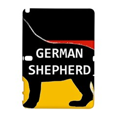 German Shepherd Name Silhouette On Flag Black Galaxy Note 1
