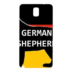 German Shepherd Name Silhouette On Flag Black Samsung Galaxy Note 3 N9005 Hardshell Back Case