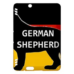 German Shepherd Name Silhouette On Flag Black Kindle Fire HDX Hardshell Case