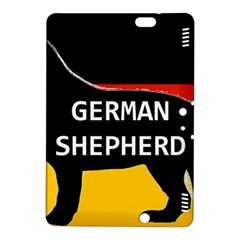 German Shepherd Name Silhouette On Flag Black Kindle Fire HDX 8.9  Hardshell Case