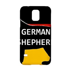 German Shepherd Name Silhouette On Flag Black Samsung Galaxy S5 Hardshell Case