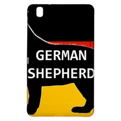 German Shepherd Name Silhouette On Flag Black Samsung Galaxy Tab Pro 8.4 Hardshell Case