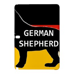 German Shepherd Name Silhouette On Flag Black Samsung Galaxy Tab Pro 12.2 Hardshell Case