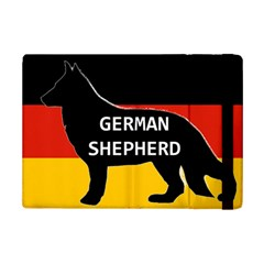 German Shepherd Name Silhouette On Flag Black iPad Mini 2 Flip Cases