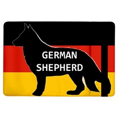 German Shepherd Name Silhouette On Flag Black iPad Air Flip