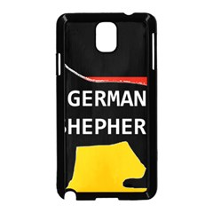 German Shepherd Name Silhouette On Flag Black Samsung Galaxy Note 3 Neo Hardshell Case (Black)