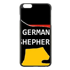 German Shepherd Name Silhouette On Flag Black Apple iPhone 6 Plus/6S Plus Black Enamel Case