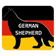 German Shepherd Name Silhouette On Flag Black Double Sided Flano Blanket (Small)