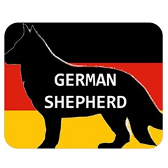 German Shepherd Name Silhouette On Flag Black Double Sided Flano Blanket (Medium)