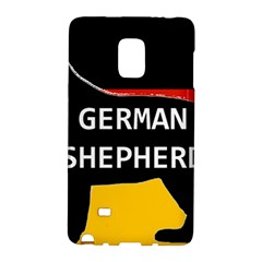 German Shepherd Name Silhouette On Flag Black Galaxy Note Edge