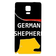 German Shepherd Name Silhouette On Flag Black Galaxy Note 4 Back Case