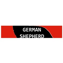 German Shepherd Name Silhouette On Flag Black Flano Scarf (Small)