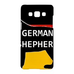 German Shepherd Name Silhouette On Flag Black Samsung Galaxy A5 Hardshell Case