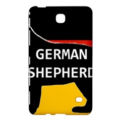 German Shepherd Name Silhouette On Flag Black Samsung Galaxy Tab 4 (7 ) Hardshell Case