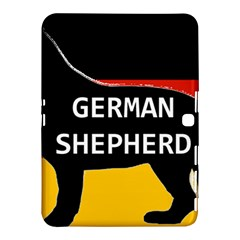 German Shepherd Name Silhouette On Flag Black Samsung Galaxy Tab 4 (10.1 ) Hardshell Case