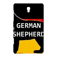 German Shepherd Name Silhouette On Flag Black Samsung Galaxy Tab S (8.4 ) Hardshell Case