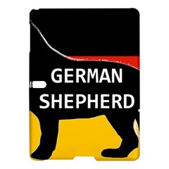 German Shepherd Name Silhouette On Flag Black Samsung Galaxy Tab S (10.5 ) Hardshell Case