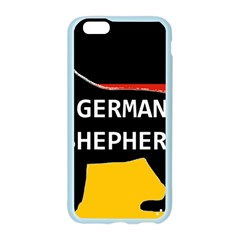 German Shepherd Name Silhouette On Flag Black Apple Seamless iPhone 6/6S Case (Color)