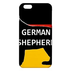 German Shepherd Name Silhouette On Flag Black iPhone 6 Plus/6S Plus TPU Case