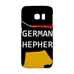 German Shepherd Name Silhouette On Flag Black Galaxy S6 Edge