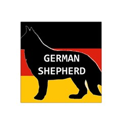 German Shepherd Name Silhouette On Flag Black Satin Bandana Scarf