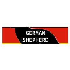 German Shepherd Name Silhouette On Flag Black Satin Scarf (Oblong)