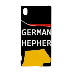 German Shepherd Name Silhouette On Flag Black Sony Xperia Z3+