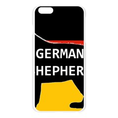 German Shepherd Name Silhouette On Flag Black Apple Seamless iPhone 6 Plus/6S Plus Case (Transparent)