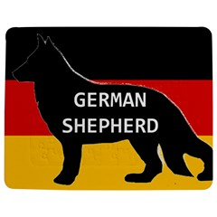German Shepherd Name Silhouette On Flag Black Jigsaw Puzzle Photo Stand (Rectangular)