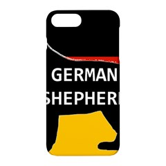 German Shepherd Name Silhouette On Flag Black Apple iPhone 7 Plus Hardshell Case
