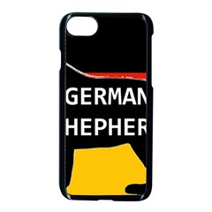 German Shepherd Name Silhouette On Flag Black Apple iPhone 7 Seamless Case (Black)