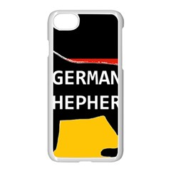 German Shepherd Name Silhouette On Flag Black Apple iPhone 7 Seamless Case (White)