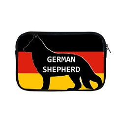 German Shepherd Name Silhouette On Flag Black Apple MacBook Pro 13  Zipper Case