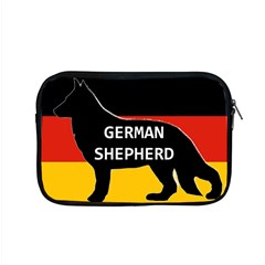 German Shepherd Name Silhouette On Flag Black Apple MacBook Pro 15  Zipper Case