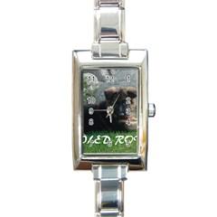 Spoiled Rotten German Shepherd Rectangle Italian Charm Watch