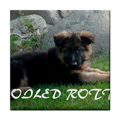 Spoiled Rotten German Shepherd Tile Coasters