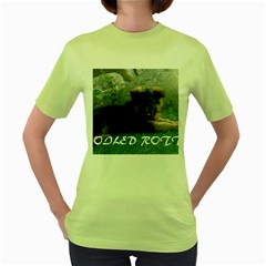 Spoiled Rotten German Shepherd Women s Green T-Shirt