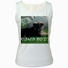 Spoiled Rotten German Shepherd Women s White Tank Top