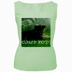 Spoiled Rotten German Shepherd Women s Green Tank Top